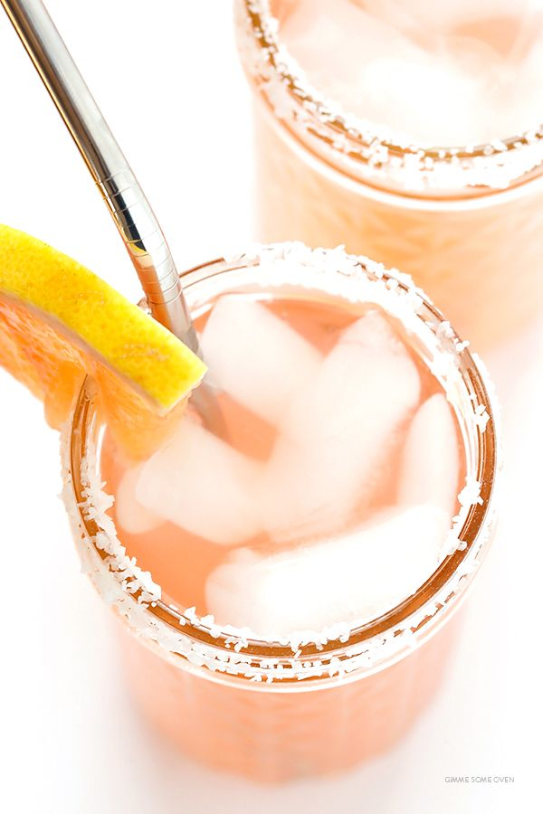 Grapefruit Margaritas -- so fresh and easy to make with just a few ingredients   gimmesomeoven.com