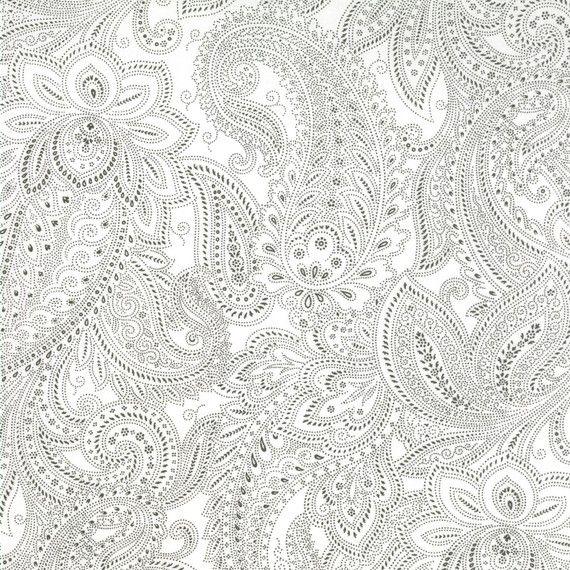 understated and beautiful: paisley by moda #paisley #cotton #fabric: