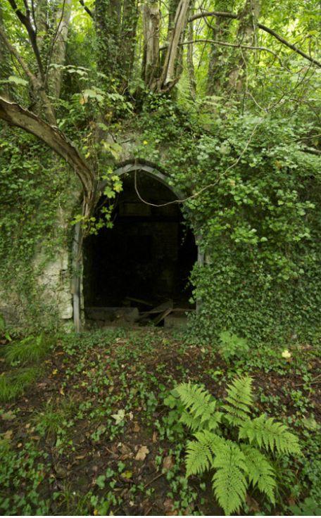 Secret doorway, Penrhyn Castle, Llandegai, Bangor, Gwynedd, North Wales