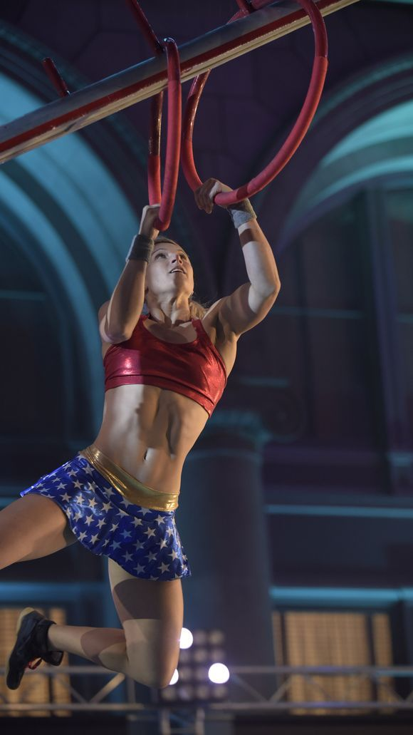 Meet Jessie Graff, the Supergirl stuntwoman and American Ninja Warrior competitor who made history (again) on the show, where advanced athletes compete in near-impossible obstacle courses.  In season five she was the first woman to qualify for the city finals. In this season, she's the first woman to conquer the new 14.5 foot Warped Wall (aka SUPER HARD) in the Los Angeles qualifiers.  And she did it all while wearing a Wonder Woman costume. (photo: Brandon Hickman, NBC)