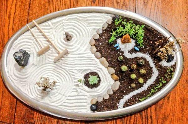 mini jardin joyeux, décoration zen originale                                                                                                                                                                                 Plus