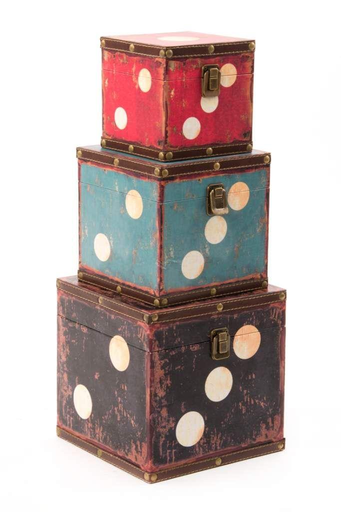 Caja madera dado