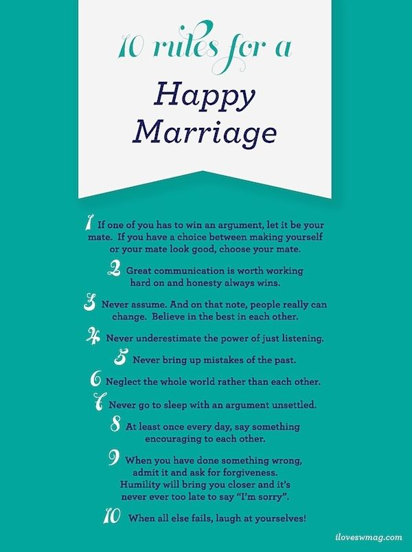 loves for it.: Happy Relationship, Wedding Ideas, Marriage Relationship, Married Life, So True, Happy Marriage, 10 Rules, Good Advice, Marriage Rules
