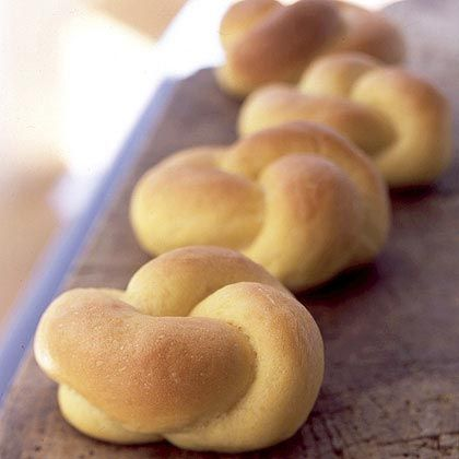 Buttered Sweet Potato Knot Rolls -