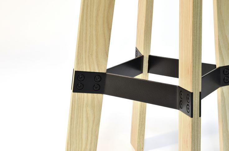 Contra - bar stool. detail http://www.magnuspettersen.com