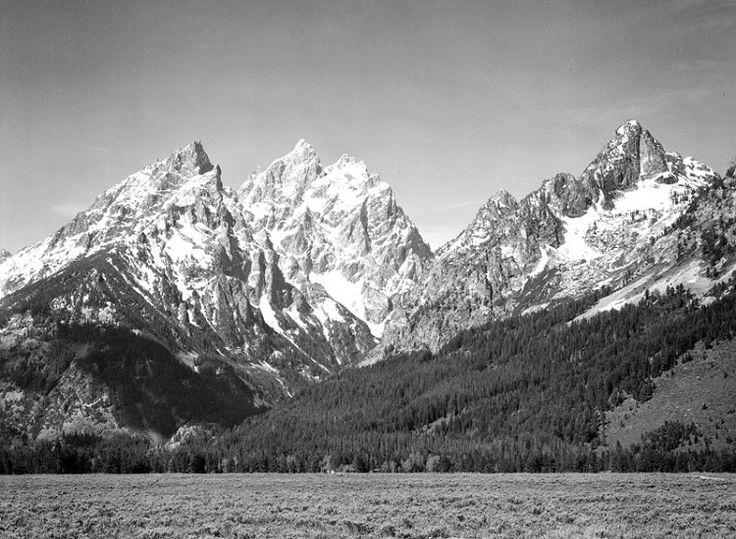 Grassy Valley, Grand Teton - Ansel Adams - 1933-42