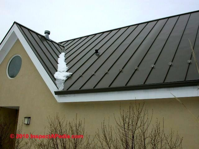 Modern Homes With Metal Roof Metal Roof Snow Brakes