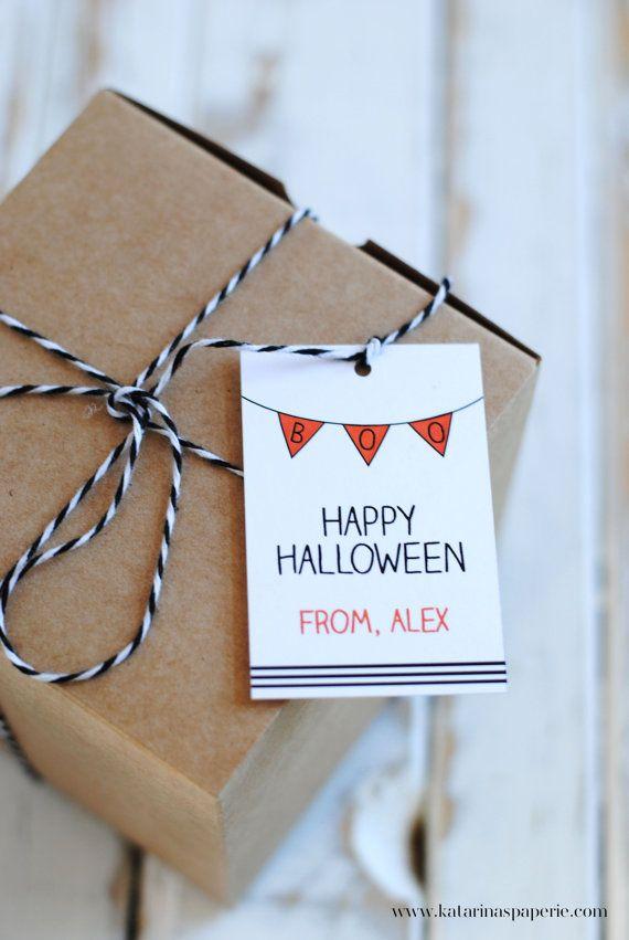 Boo Bunting Halloween Favor Tags  Halloween by KatarinasPaperie, $12.00