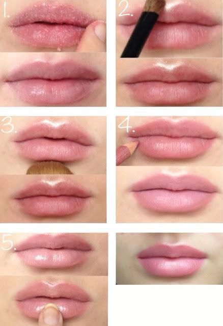 simple illusion for bigger looking lips