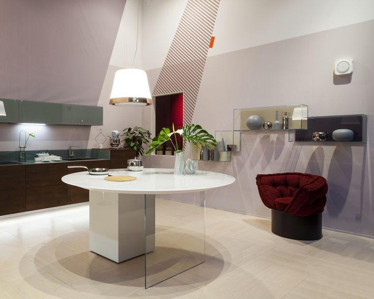 Modulo cucina freestanding in vetro AIR | Modulo cucina freestanding - Lago
