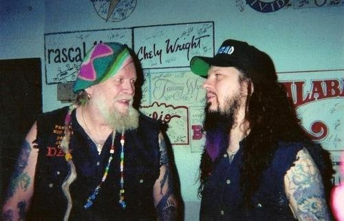 "Dimebag Darrell and David Allan Coe. They collaborated on the album ""Rebel Meets Rebel"", released two years after Dimebag's death in 2006."