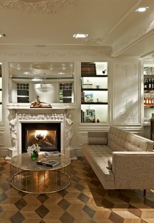Lounge Fireplace at the House Hotel Bosphorus in Istanbul