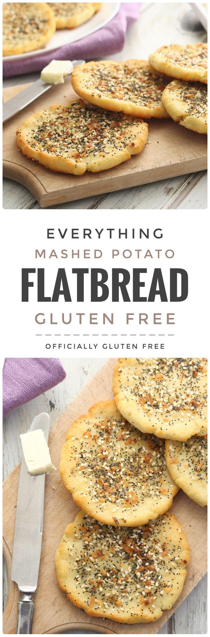 Gluten Free Everything Mashed Potato Flatbread