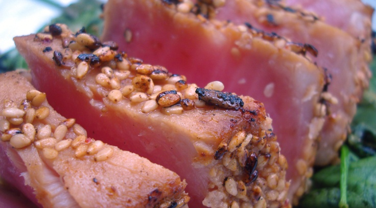 Paleo Super Easy Seared Ahi Tuna