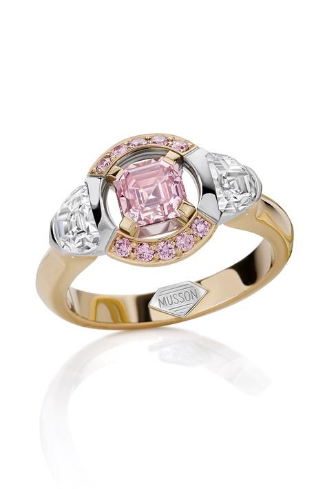 Sun Struck Argyle pink diamonds, $187,000, Musson, Shop 51, Ground Floor, QVB