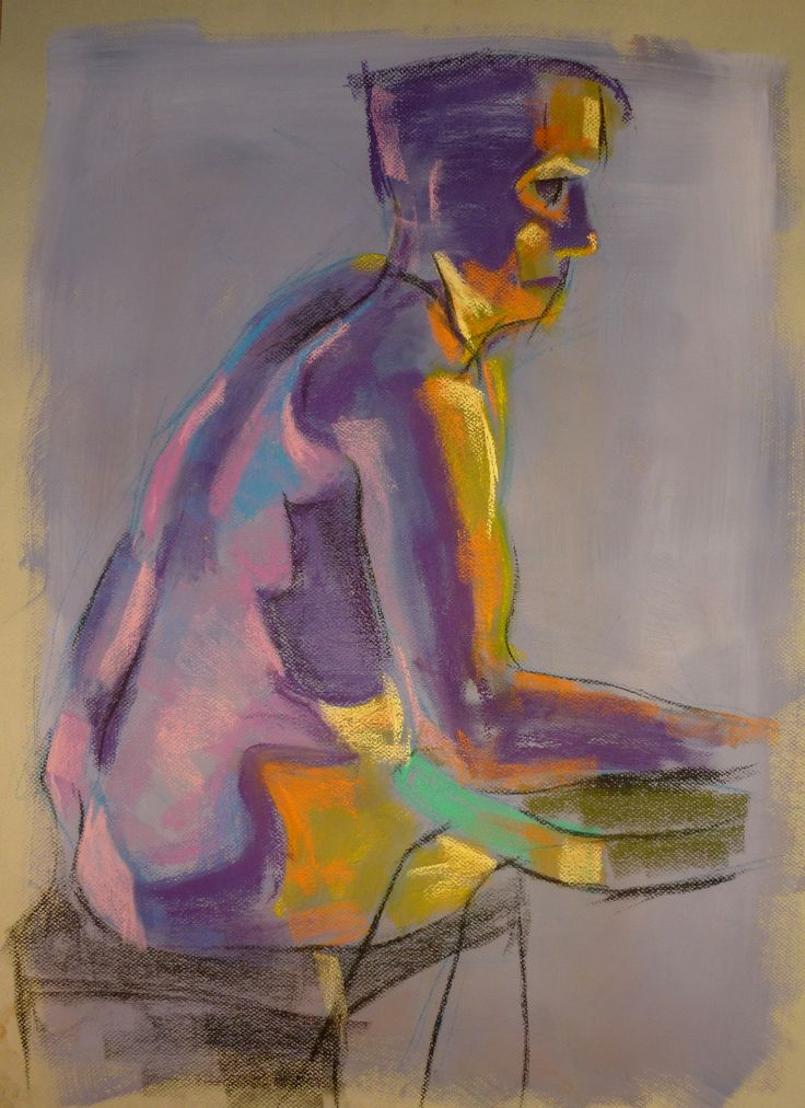 Life Drawing - Sergio Rigoli □ Soft pastel & charcoal on canson paper