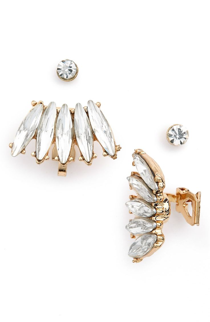 107 best ear cuffs images on pinterest ear cuffs earrings and these gorgeous crystal ear cuffs paired with studs will look dazzling paired with a trendy ensemble baditri Choice Image