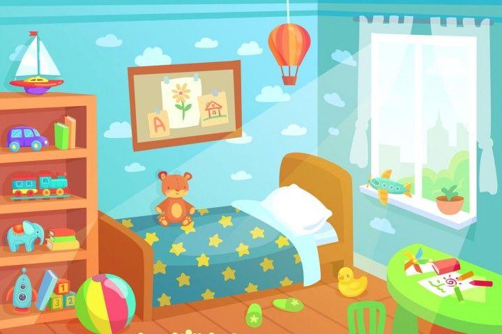 Cartoon Kids Bedroom Interior Home Childrens Room With Kid Bed Child By Tartila Kids Bedroom Toy Rooms Kids Room