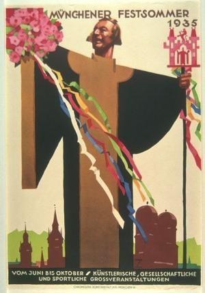 Münchener Festsommer (Munich Summer Festival) poster by Ludwig Hohlwein, 1935