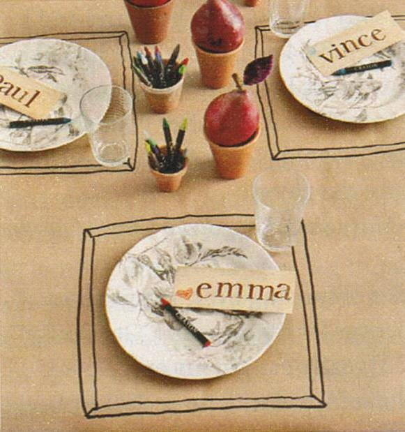 Ideas For Casual Dinner Party Part - 24: Great, Simple Idea For A Casual Dinner Party - Craft Paper U0027table Clothu0027