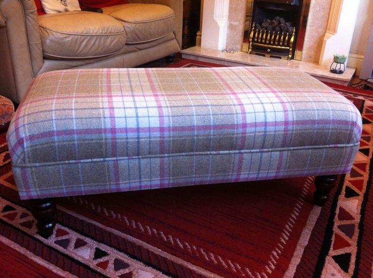 Warwick Bainbridge Wool Plaid Footstool