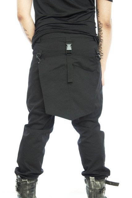 futuristic URBAN nomad pants with modern back flap pockets STORM by FUTURSTATE by FUTURSTATE on Etsy