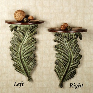 banana leaf palm tree wall shelf tropical island decor right - Palm Tree Decor