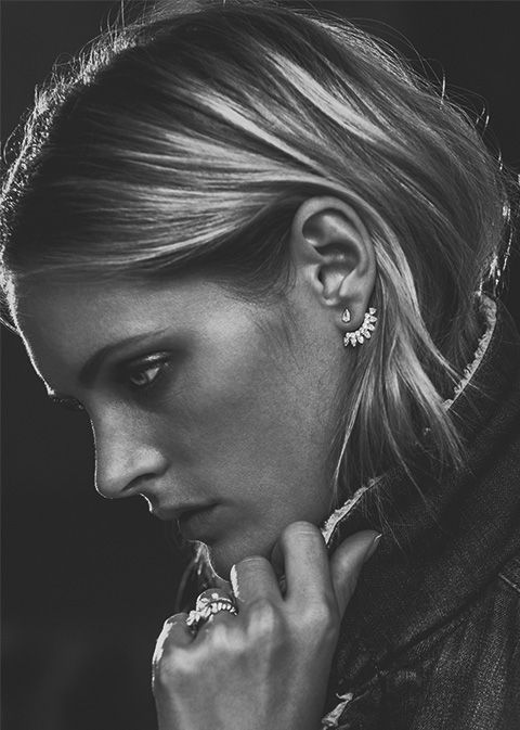 Parisian Fine Jewelry designer Yvonne Leon's earjackets. Buy them on Net-A-Porter now.