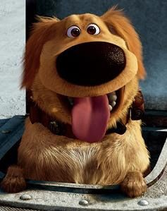 this is the portrayal of my dog in a cartoon. seriously, dug is just like my dog!