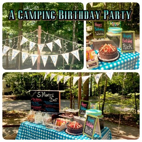 The nifty thrifty family a camping birthday party for Nifty family