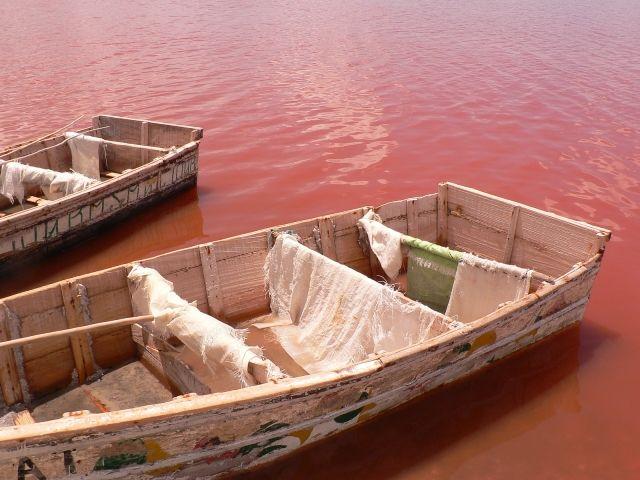 Pink Water of Lake Retba, Senegal