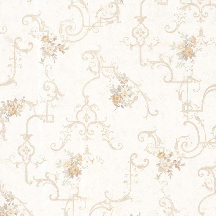 Vintage Rose englische Landhaus Satintapeten Rosen Gitter Art.-Nr.: 68307