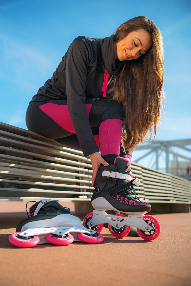 Fit is the new Sexy! Powerslide Swell Fitness Skates. #powerslide #welovetoskate #swell #fitness #skate #fit #shape #pretty #pink