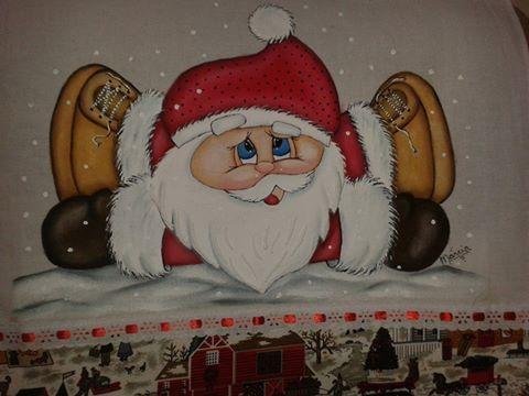 Papai Noel deitado