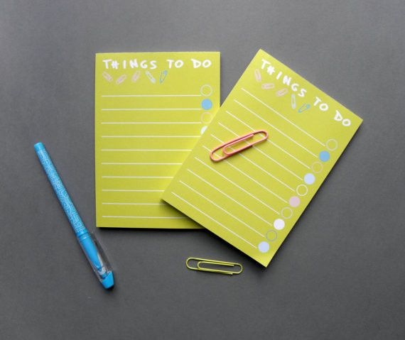 To Do List Notepad, A6 Checklist Notepad, Set of 2
