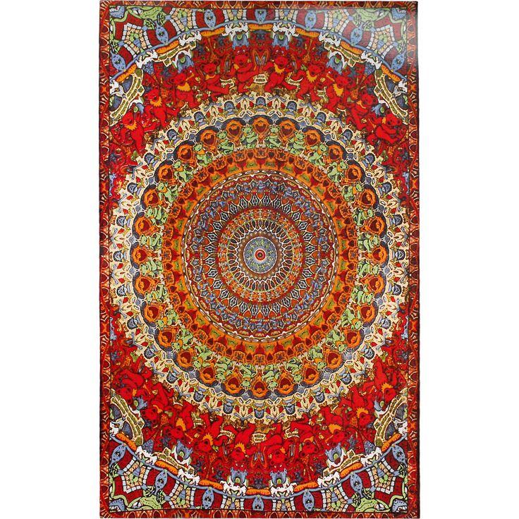 Grateful Dead Bear Vibrations 3D Tapestry | Hippie Shop