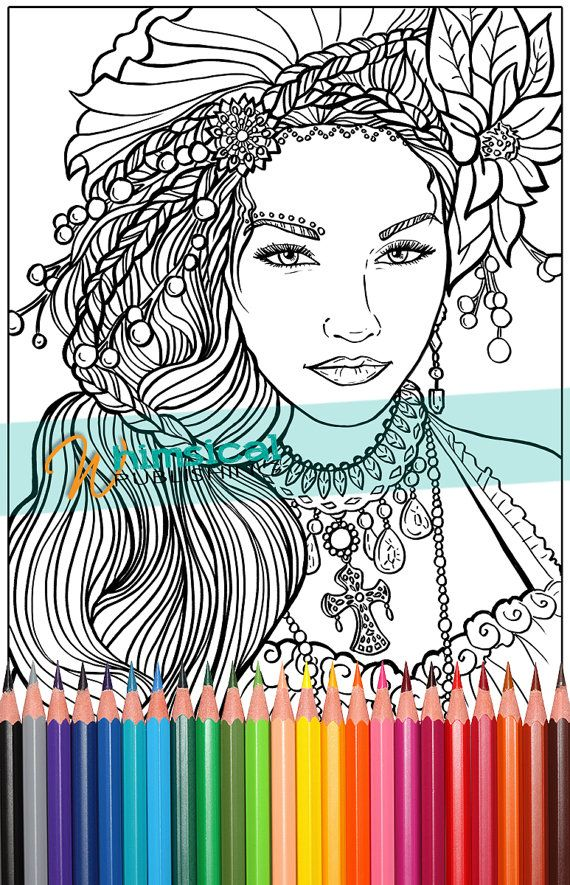 Vogue A To Z Coloring Book Beautiful woman coloring pages fashion coloring pages