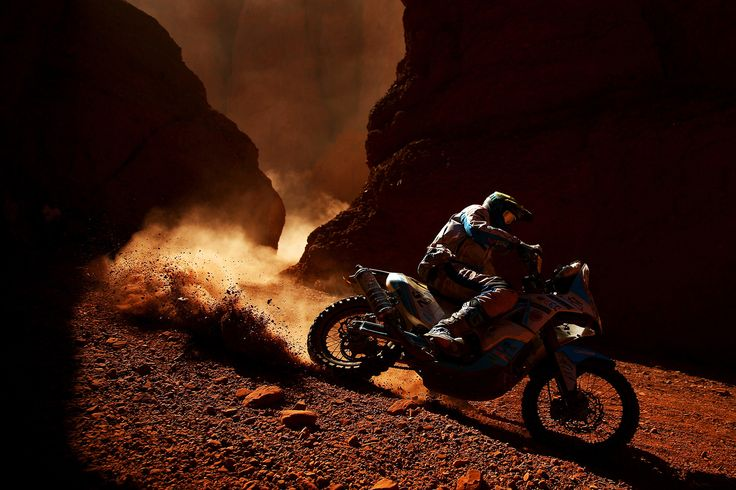 Milan Engel of the Czech Republic and KTM rides a 450 Rally Replica KTM bike in stage three of the 2017 Dakar Rally between San Miguel de Tucuman and San Salvador de Jujuy on January 4, 2017 at an unspecified location in Argentina.