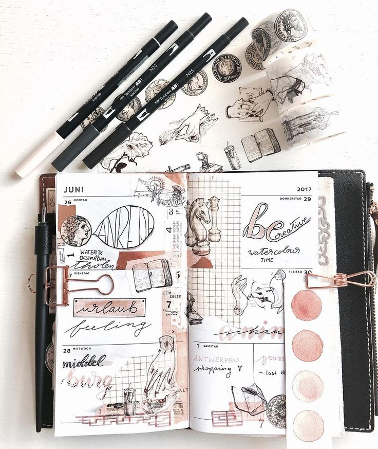 """577 Likes, 15 Comments - plannerphie ~ Sophie (@phiespoetry) on Instagram: """"Full weekly journaling of the first part of my vacation <3 with watercolor scheme *_* sending…"""""""