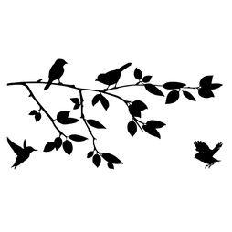 Väggdekor - Fåglar på kvist #4