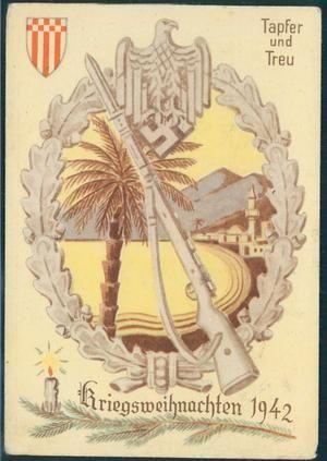 Afrika Korps Christmas card