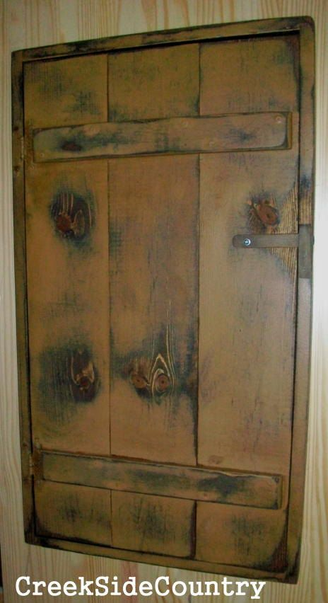 Rooms With Wood Panel Walls: PRIMITIVE Wood Circuit Breaker Fuse Box Cover By