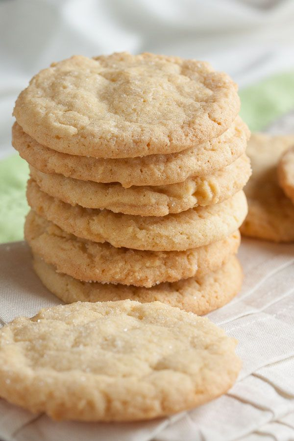 These old-fashioned sugar cookies are soft and chewy with a lovely crispy exterior, and great lemon flavour.
