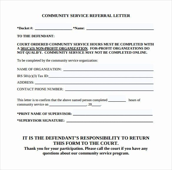 Community Service Letter Template from i.pinimg.com