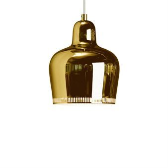 The elegant Golden Bell lamp in brass from Artek is a stylish pendant lamp that fits perfect in a kitchen or maybe in a window