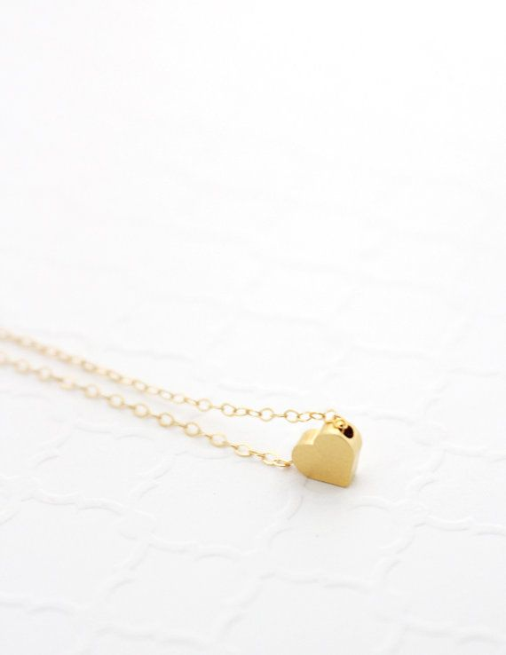 Anniversary Gift for Girlfriend, Birthday Gift for Sister, Tiny Heart Necklace, Silver Heart Necklace, Rose Gold Filled Pendant Necklace