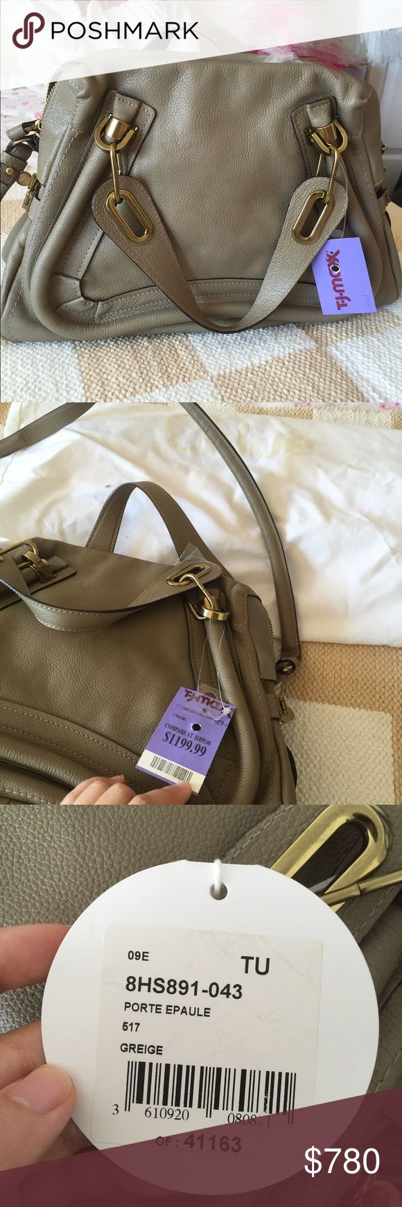 Brand-new Chloe Paraty Medium, 100% authentic. Brand-new Chloe Paraty Medium Satchel in calfskin, color is Greige. NWT. 100% authentic. Chloe Bags Satchels
