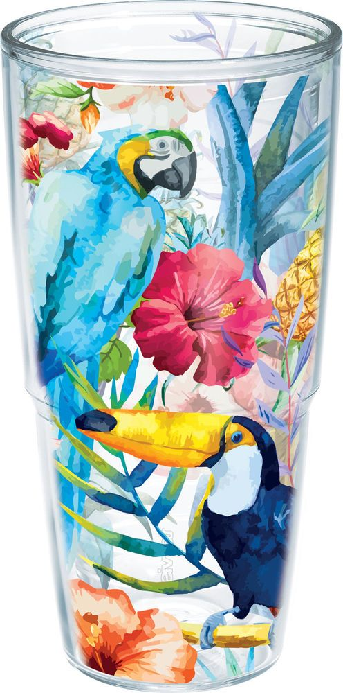 Tervis 24 oz. Parrots & Pineapples Tumbler 24 oz. Tumbler . #Tervis