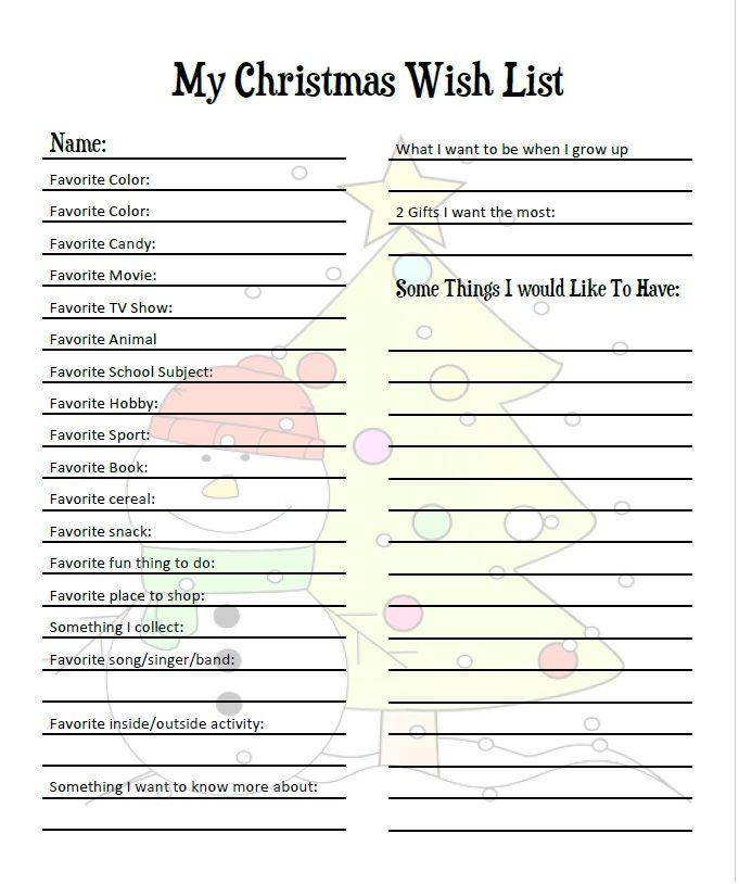 Christmas Wish List, Christmas Wishes, Christmas Gifts, Christmas Printables, Free Printables