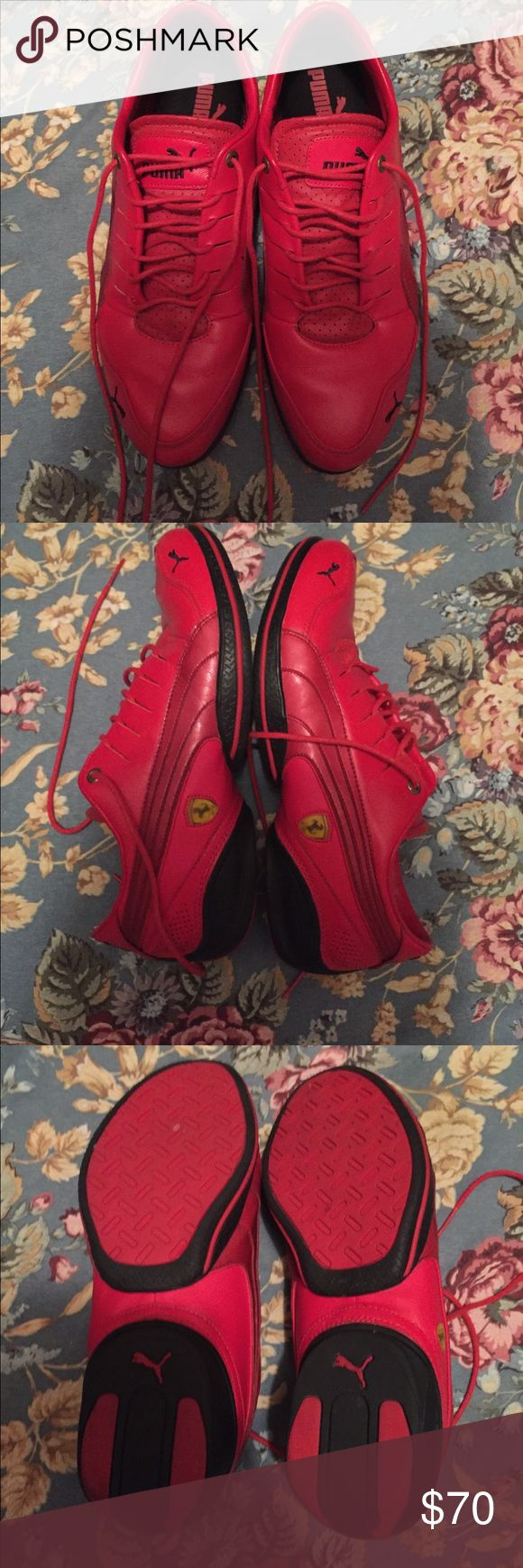 Puma FERRARI RED SNEAKERS Great puma shoe they were purchased and did not fit hubby Puma Shoes Sneakers
